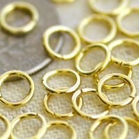 20gauge Round Jumpring 6mm Raw Brass Jump Ring Finding Golden m76g(40pcs)