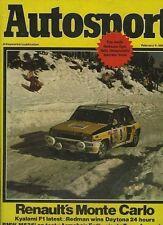 Autosport Feb 5th 1981 *Monte Carlo Rally*