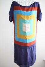 KOOKAI BY Max Mara multicolor navy silk Dress sz I36 F34 US0