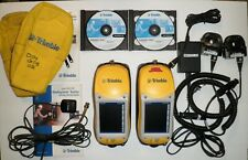 2 Trimble Geoxt Geoexplorer Series 50950 20 With Adapters Chargers Cds Guides Etc