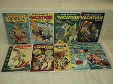 Bugs Bunny's Vacation Funnies 1-9 COMPLETE SET Solid #8! Dell Giant Comics (8666
