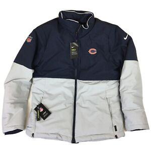 Nike Shield Chicago Bears Sideline On Field Bomber Jacket Blue Gray Men's Sz XXL