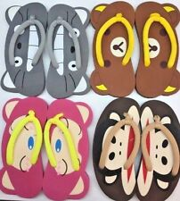 Wholesale lot 10 pairs cute bear cat monkey WOMENS BEACH FLIP FLOPS  Brand new