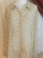 Maggie McNaughton Woman's Plus Semi-Sheer Shaded Beige Blouse Size 24W