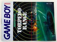 Vintage 1991 TORPEDO RANGE Nintendo Gameboy Instruction Manual Booklet No Game