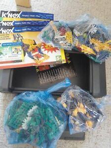 K'NEX Models 12310 11605 61023 10237 flying construction racers Grey hard case