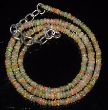 "30 Ctw 1Necklace 2to4 mm 17""Beads Natural Genuine Ethiopian Welo Fire Opal R1110"