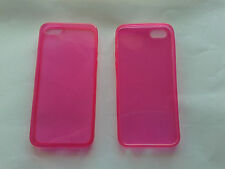 Custpdia cover case slim guscio per apple iphone SE 5 5s in silicone fucsia