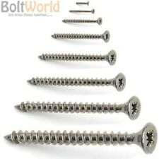 3mm 4g A2 STAINLESS STEEL POZI COUNTERSUNK FULLY THREADED CHIPBOARD WOOD SCREWS