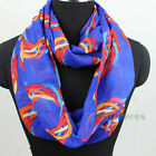 Fashion Women's Colorful Circle Print Chiffon Infinity Loop Scarf Ladies Scarves