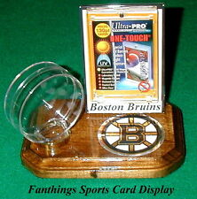 Boston Bruins NHL Sports Card Display Hockey Puck Holder Logo Gift
