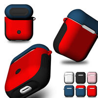 For Apple AirPods Protective Case Soft Silicone + Hard PC Shockproof Cover Skin
