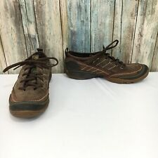 Merrell Mimosa Lace Womens 7 Suede Leather Cocoa Walking Sneaker Shoes