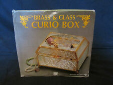 Brand New in Box (Vintage) Brass & Glass Curio Box Mirrored (Jewelry/Trinket)