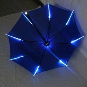 Cool Variable Umbrella With Led Features 8 Rib Light Transparent With Flashlight