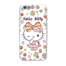 Hello Kitty Cute Pink Flower Hard Cover Case For iPhone Galaxy Huawei Lenovo New