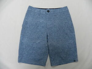 Quiksilver Boys Subtle Blue Swimwear Amphibian Walkshorts Sz 26