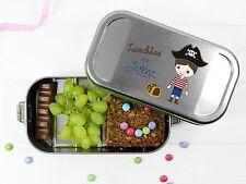 Personalisierte Lunchbox Brotdose für Jungen mit Pirat