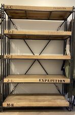 Amazing warm industrial / vintage bookcase shelving unit