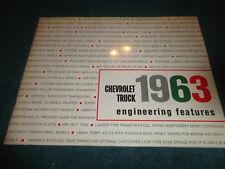 1963 CHEVROLET TRUCK / PICKUP ENGINEERING FEATURES DEALER ALBUM / RARE ITEM!