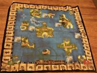 Pirates of the Caribbean DVD Game Treasure Hunt Cloth Map Replacement Disney
