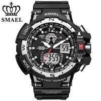SMAEL Men Quartz Watch LED Digital Military Sports Watches Shockproof Wristwatch