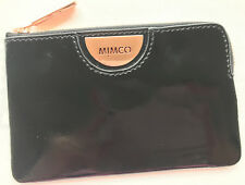 Mimco Echo Black Patent Leather Small Pouch Clutch Wallet Fits iPhone New