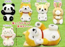 Japan Amuse Nekkorogari Tai Standard Sleep Plush Cat Panda Shiba Dog Sit Cute