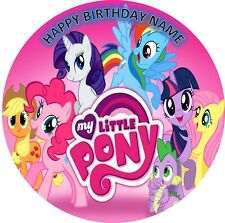 MY LITTLE PONY BIRTHDAY Personalised Edible Wafer Cake Topper Decoration Images