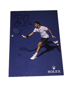 Roger Federer Official Rolex Hand Signed Tennis Autograph Card 🎾 OLYMPICS 2021