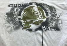 GRENADE Metal Mulisha T-Shirt White Size Large