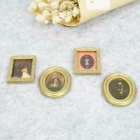 4Pcs Mini Oil Painting For 1:12 Miniature Dollhouse Decor Room Gifts Living X8F3