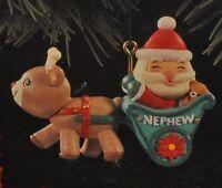 Hallmark - Nephew - Santa in Sled - Classic Ornaments 1994