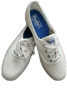 [Keds] Womens Champion Sneakers Sz 8M White WF34000 Canvas Low Top Lace Up