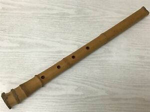 Y1867 SHAKUHACHI Bamboo flute music instrument Japanese traditional antique