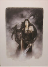 Guardian of the Black dragon by Luis Royo Hand Signed Print