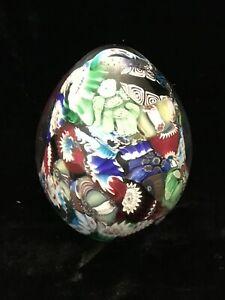 Sulfure millefiori Murano forme d'œuf