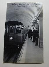 USA1015 - CHICAGO UNDERGROUND Subway Station RAILWAY Photo Illinois USA