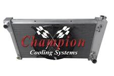 """2 Row Cold Champion Radiator 28"""" Core W/ 16"""" Fan for 1967-1971 Chevy S/T Series"""