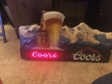 Vintage Coors Beer Digital Led Scrolling Sign Great Condition Rare (Man Cave)