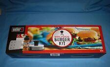 Weber Essential Burger Kit Includes Hamburgers Press/Seasoning/ Ss Spatula/Tips