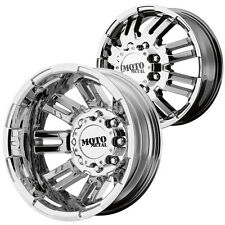 "Front and Rear Set-Moto Metal MO963 Dually 16x6 8x6.5"" PVD Chrome Wheels Rims"