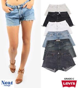 Vintage Levis Denim High Waisted Shorts Womens Hotpants All Sizes Grade B