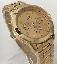 Ladies Gold Wrist Watch Classic Metal Strap Elegant Luxury Style Smart Casual