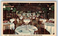 Vintage Postcard Dining Room El Tovar Hotel Grand Canyon Arizona AZ Interior