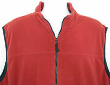 Saddlebred Vest Mens Size XL Red Fleece Black Trim Polyester Zip Front Pockets