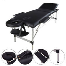 Durable Portable 3 Fold 84''L Massage Bed Table Facial SPA Tattoo Salon Bed