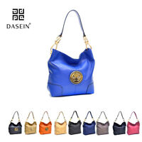 New Dasein Women Leather Hobo Tote Shoulder Bag Handbag Day Purse 3 Kinds Design