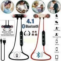 Wireless Bluetooth 4.1 Sports In-Ear Earphones Stereo Headphones Headsets W/ Mic