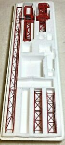 MAN Wolffkran Wolff Tower crane with trolley die cast model red metal toy parts!